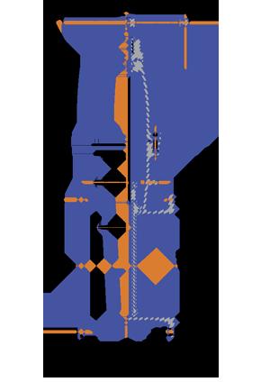 Задвижка с обрезиненным клином и невыдвижным шпинделем